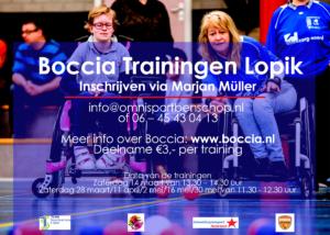 Boccia trainingen bij Omnisport
