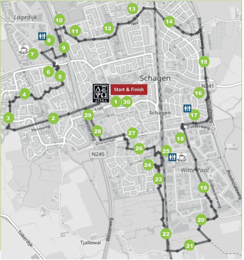 Route Lichtjesloop 2020