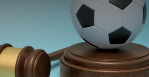 Bal met rechtbankhamer