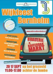 De flyer van wijkfeest Bornholm