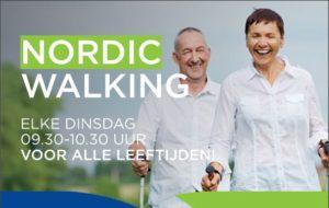 Nordic Walking, twee deelnemers in actie