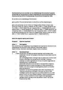 Noodverordening Covid 19 Veiligheidsregio Kennemerland Van 20 September 2020 Team Sportservice Haarlemmermeer